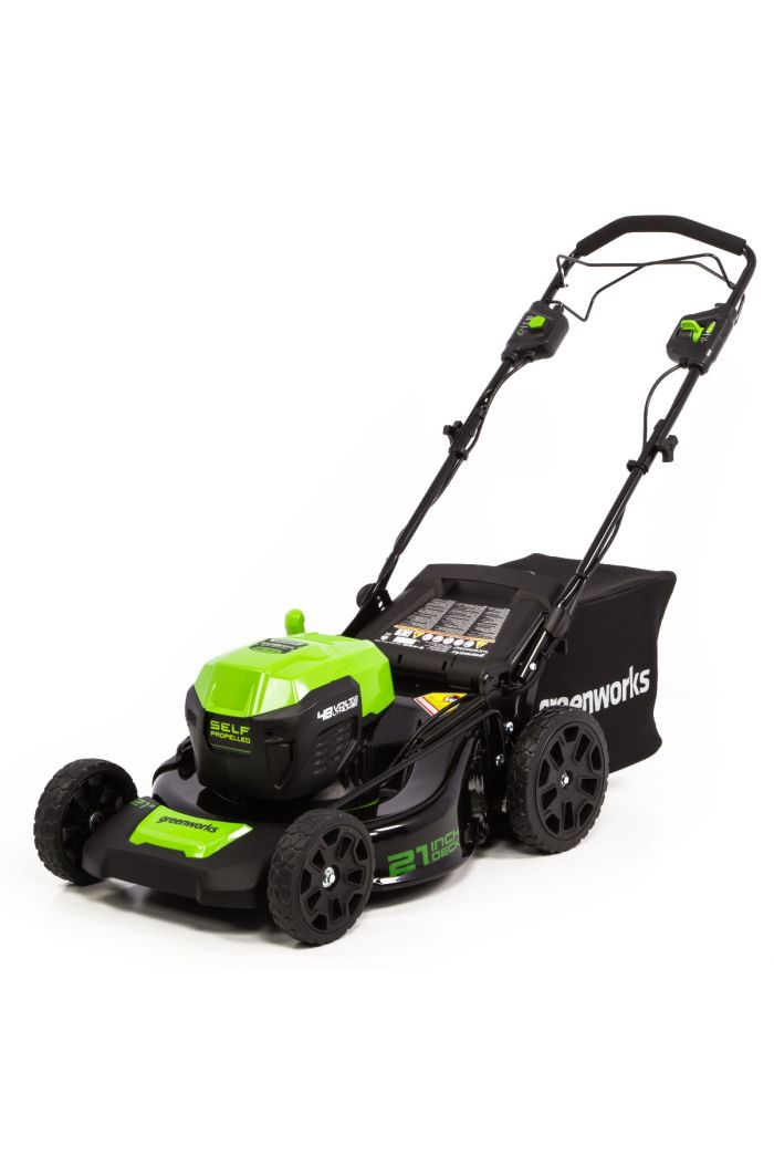 "48SPM21 48V/24V 21"" Dual-Volt Self-Propelled Lawn Mower (with Battery and Charger)"