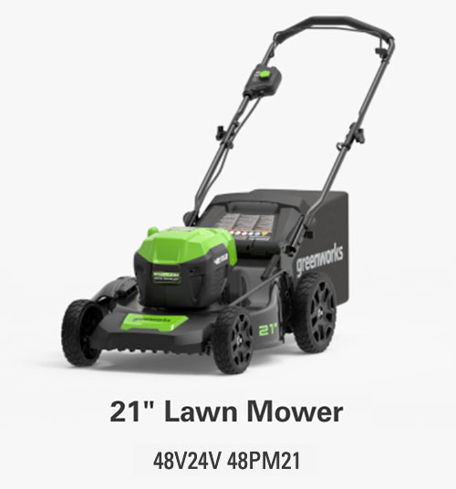 21-Inch Walk Behind Lawn Mower | Greenworks Commercial