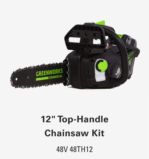 12-Inch Brushless Top Handle Chainsaw | Greenworks Commercial