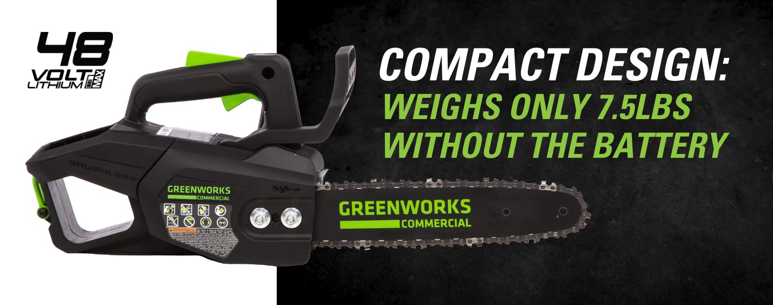 48TH12 48V 12-Inch Top Handle Chainsaw | Greenworks Commercial