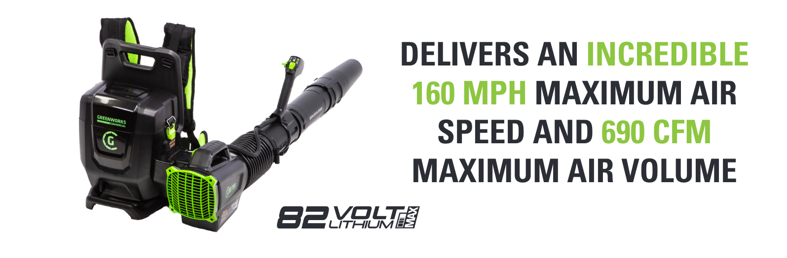 82V Backpack Blower | Greenworks Commercial