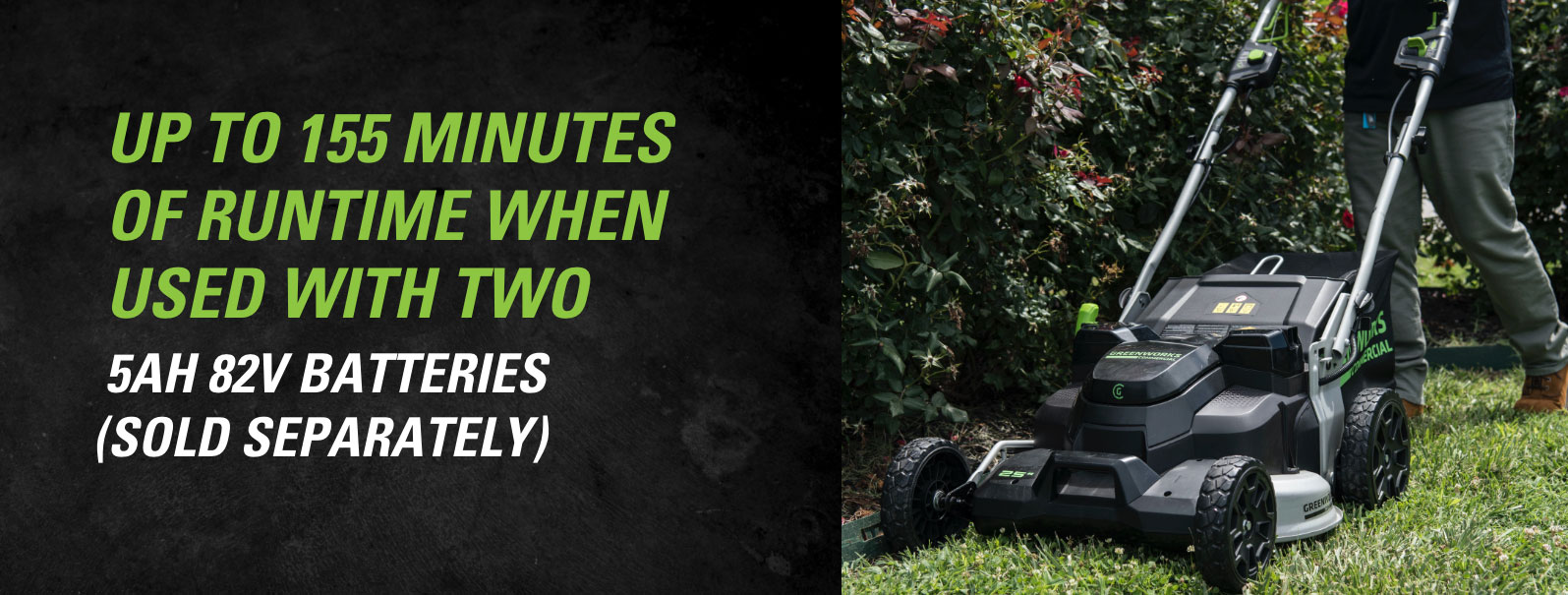 82V 25-Inch Self-Propelled Lawn Mower | Greenworks Commercial