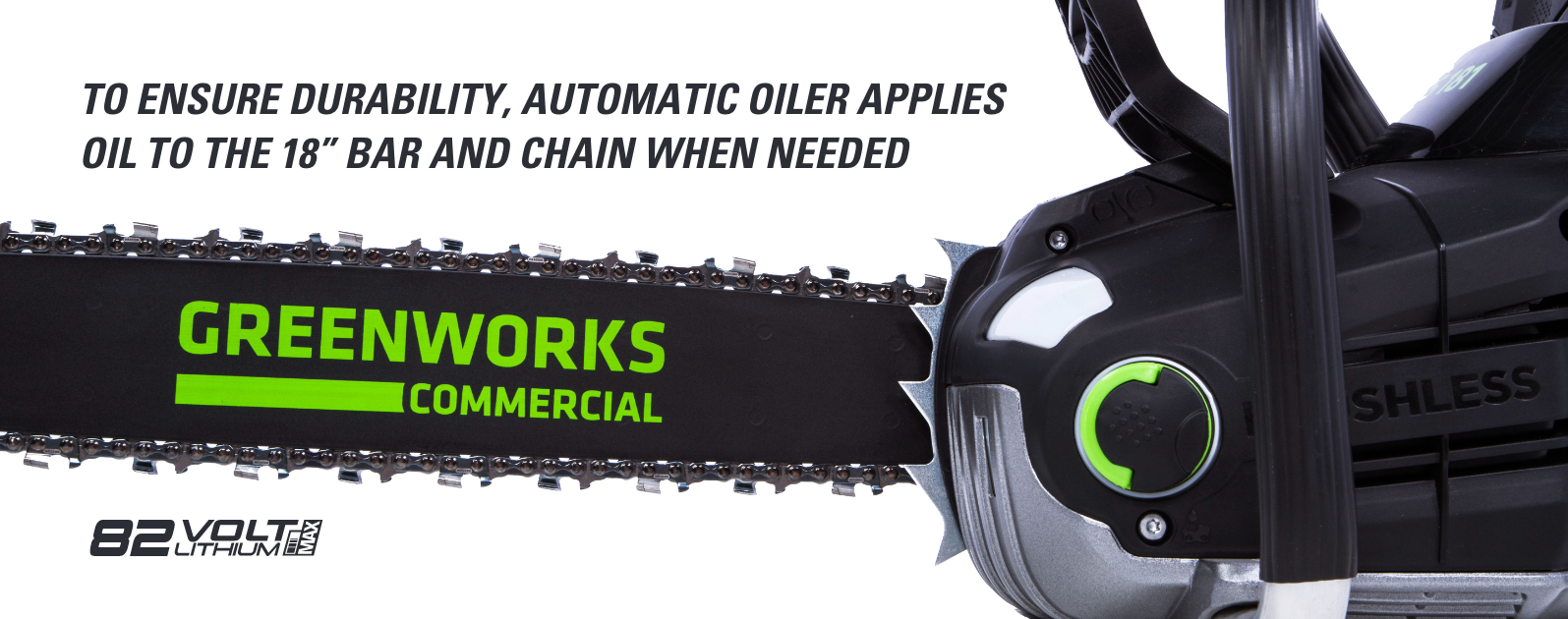 82V 18-Inch Chainsaw | Greenworks Commercial