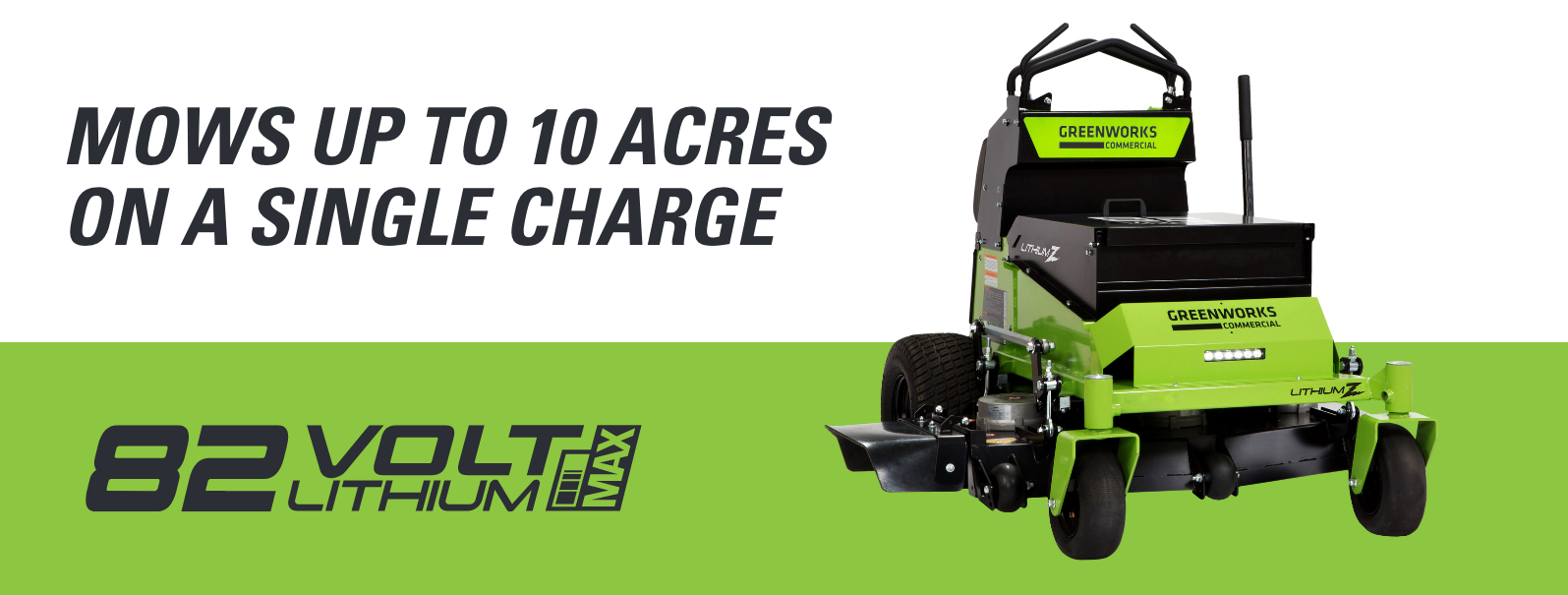 82V 52-Inch Stand-On Zero Turn Mower | Greenworks Commercial