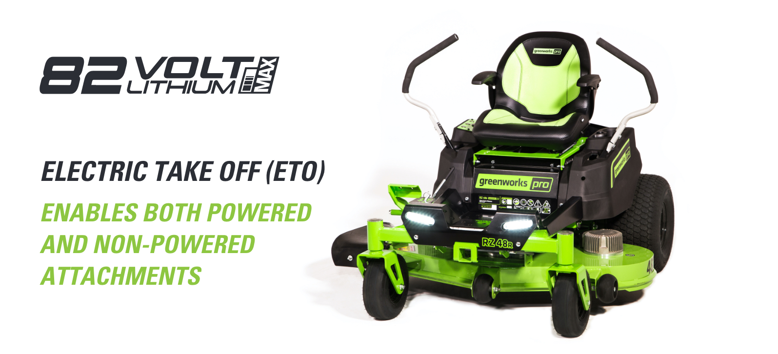 48V Residential Ride-On Zero Turn Mower | Greenworks Commercial