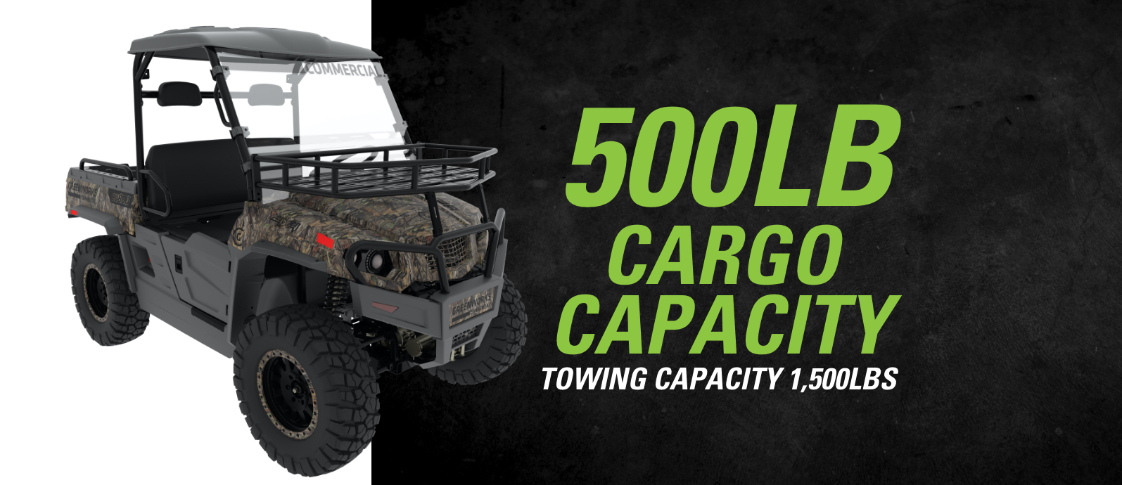82V Utility Vehicle Camo | Greenworks Commercial